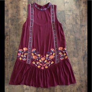 Boho Chic Embroidered Sleeveless Dress